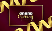 Grand Opening announcement concept,invite card,grand opening concept background
