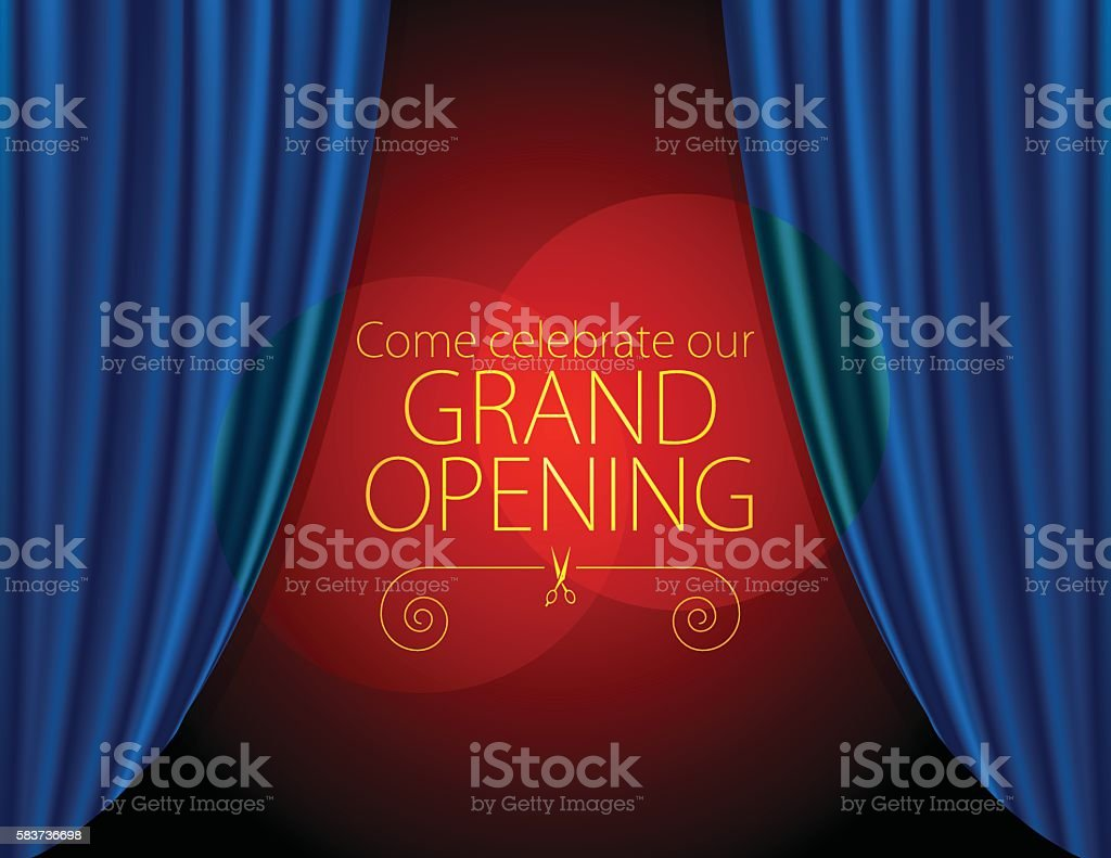 Grand Opening background vector art illustration