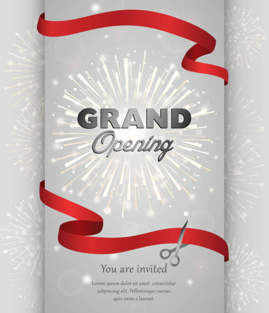 Grand opening banner design vector illustration 벡터 아트 일러스트
