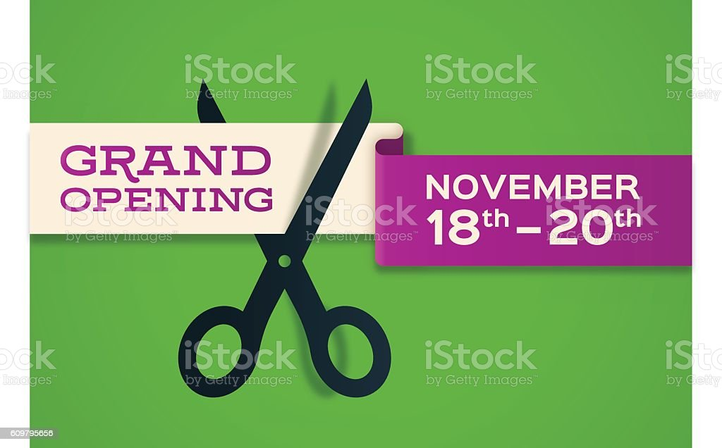 Grand Opening Banner Store Opening - Vetor de Abrindo royalty-free