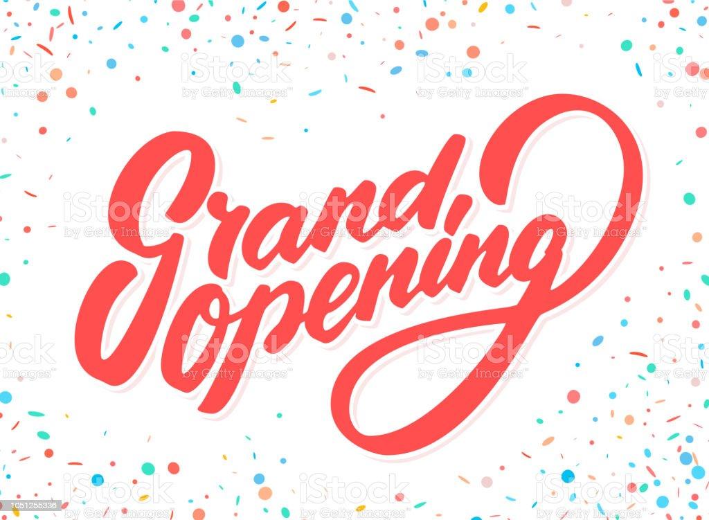 Grand opening banner. vector art illustration