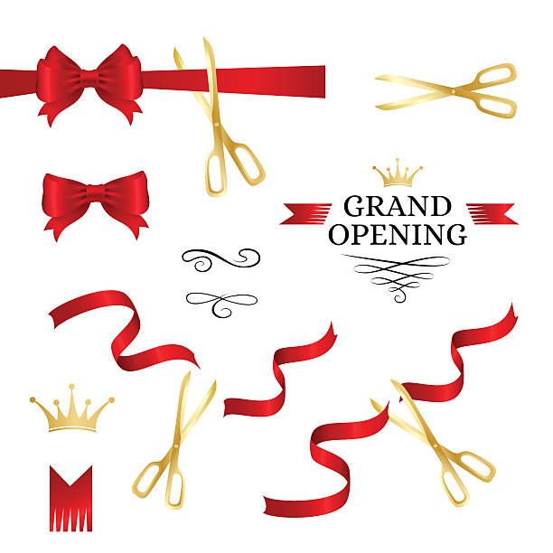 Grand opening decoration elements - Illustration vectorielle