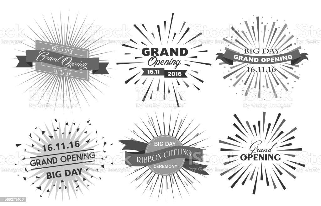 Grand opening design vector illustration - Illustration vectorielle