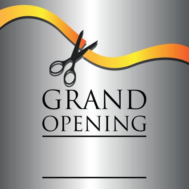 ilustraciones, imágenes clip art, dibujos animados e iconos de stock de gran apertura cartel de evento. ilustración de vector - gran inauguración