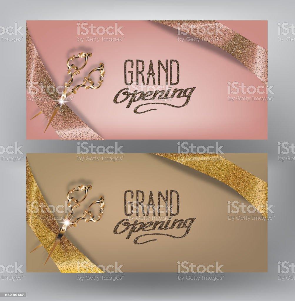 Ilustración De Gran Inauguración Tarjetas De Invitación Con