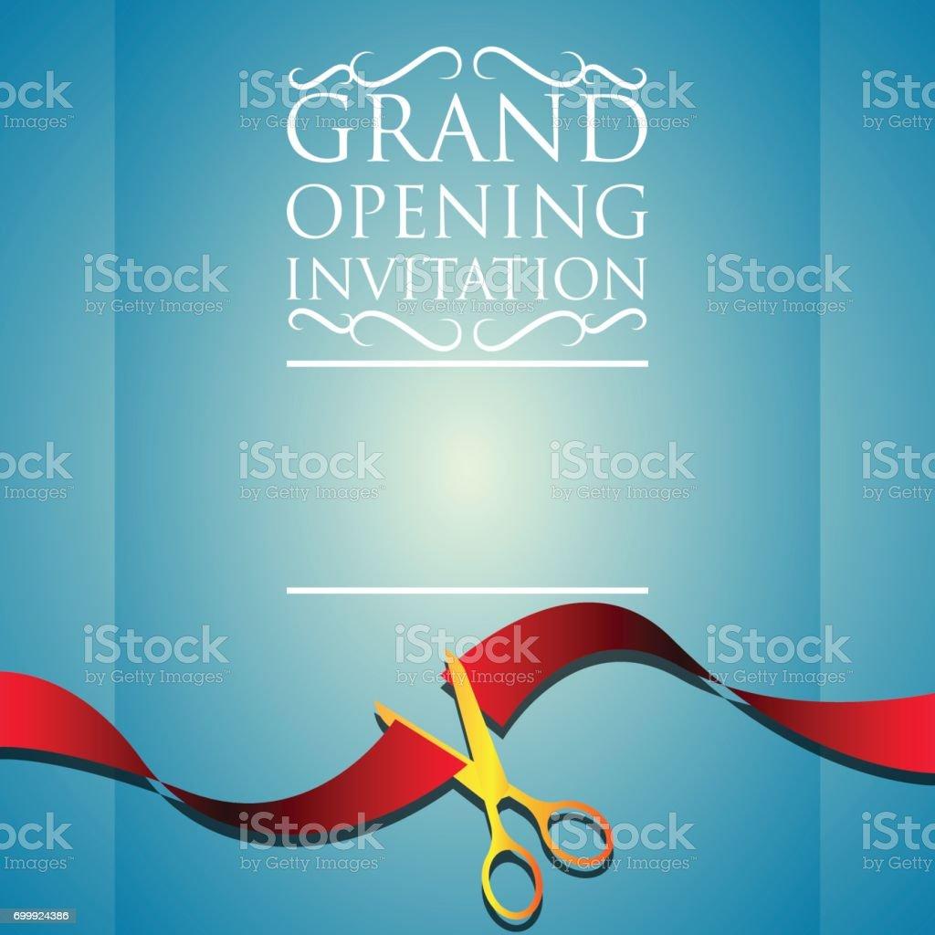 grand opening invitation poster. vector illustration vector art illustration
