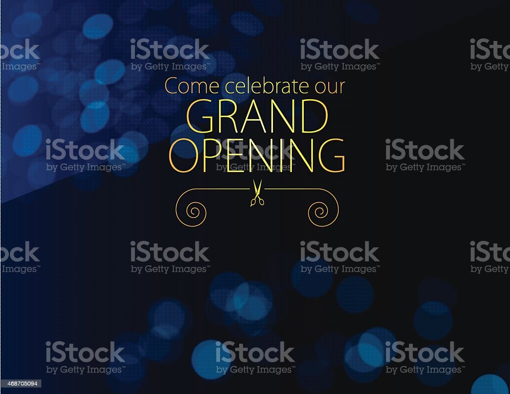 Grand Opening Invitation vector art illustration