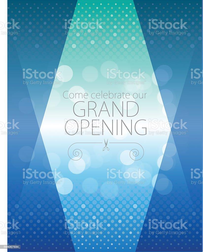 Grand opening luxurious invitation card vector art illustration