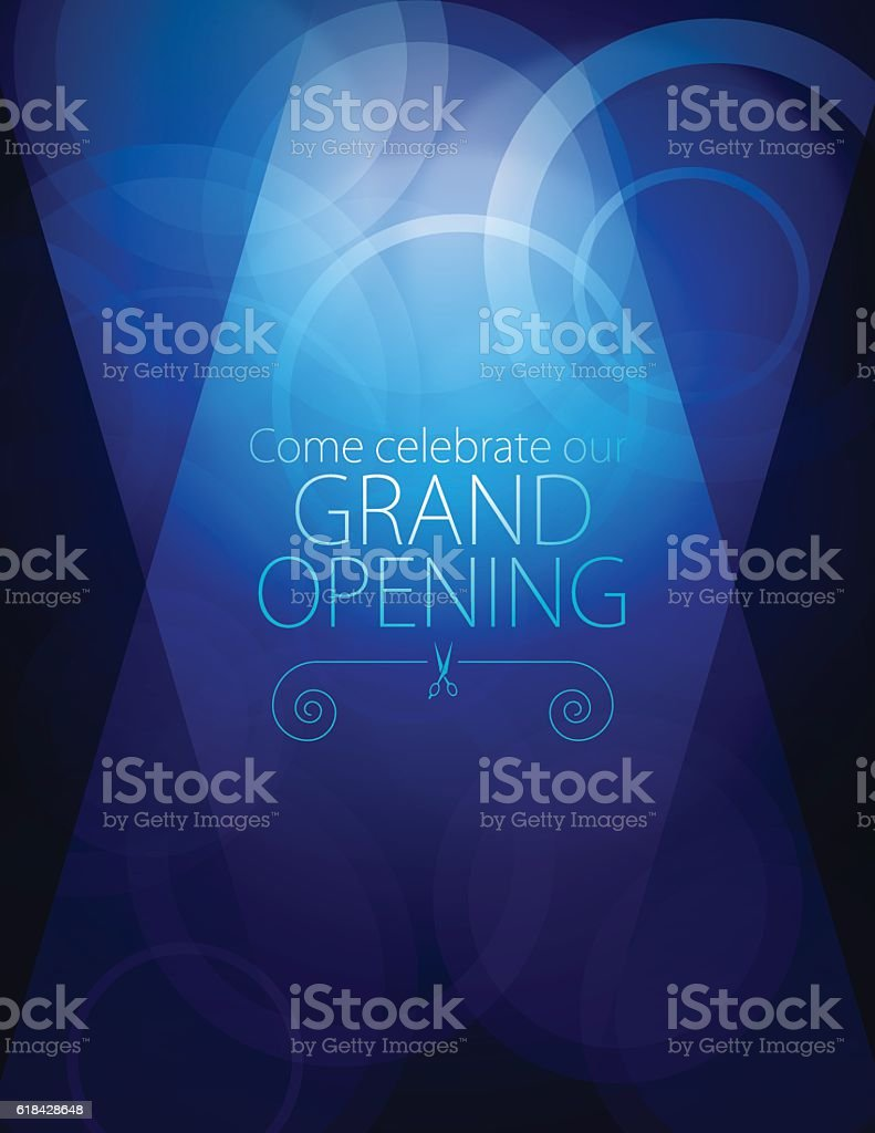 Grand opening luxurious invitation card vector art illustration
