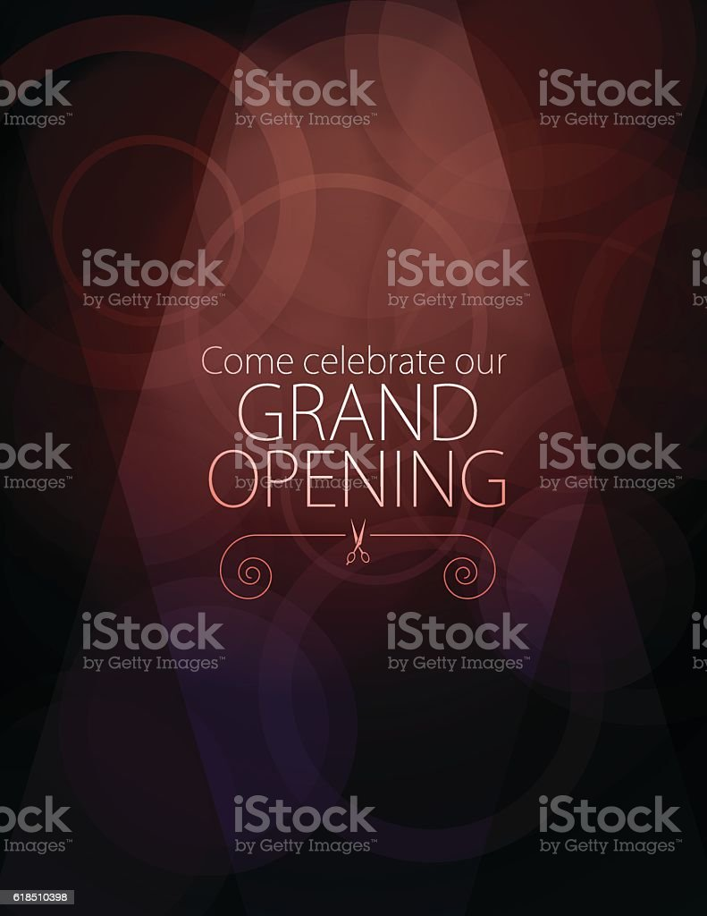 Grand opening luxurious invitation card - Illustration vectorielle