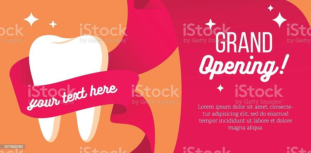 Grand opening of dental department vector art illustration