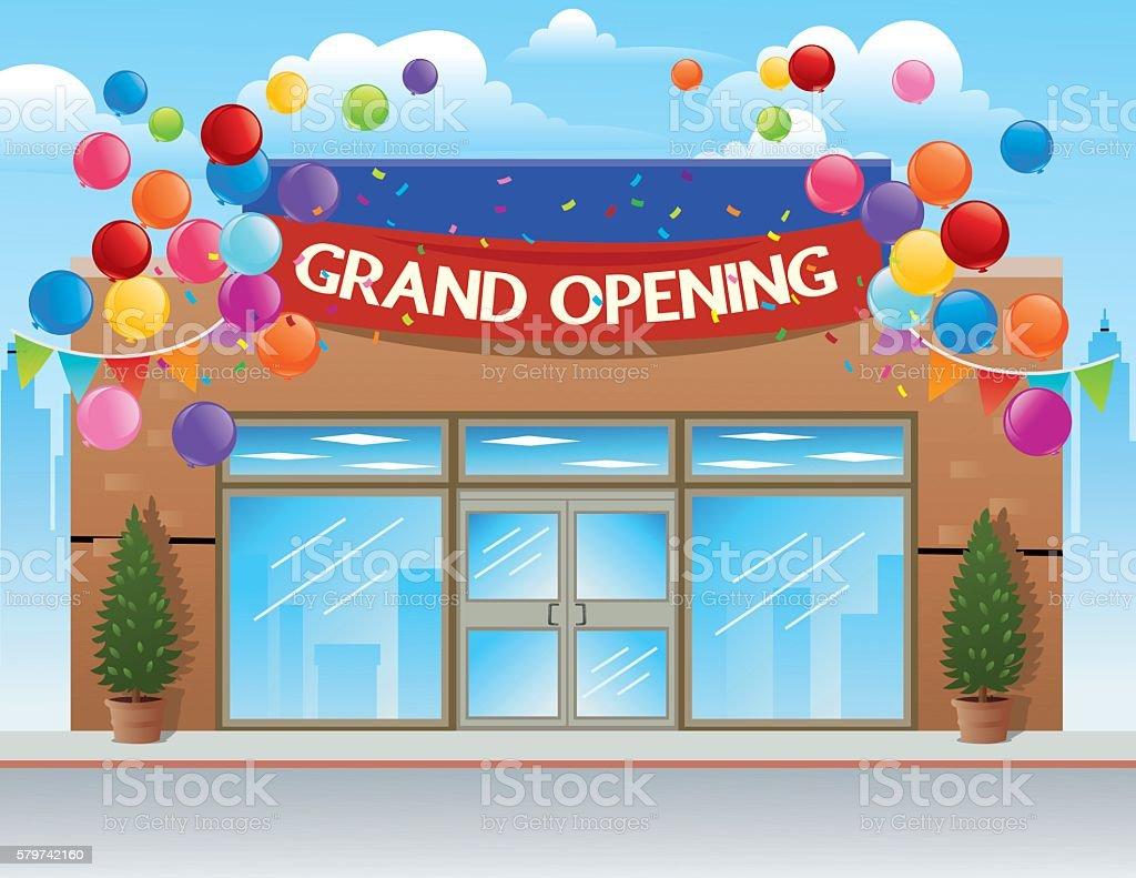 Grand Opening Retail Store vector art illustration