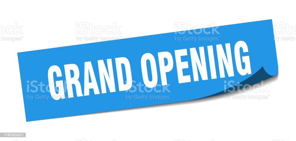 grand opening sticker. grand opening square isolated sign. grand...