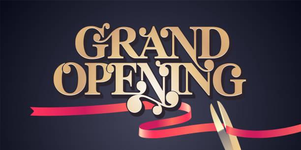 Grand opening vector background vector art illustration