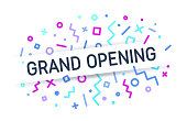 Grand opening business opening event announcement information.