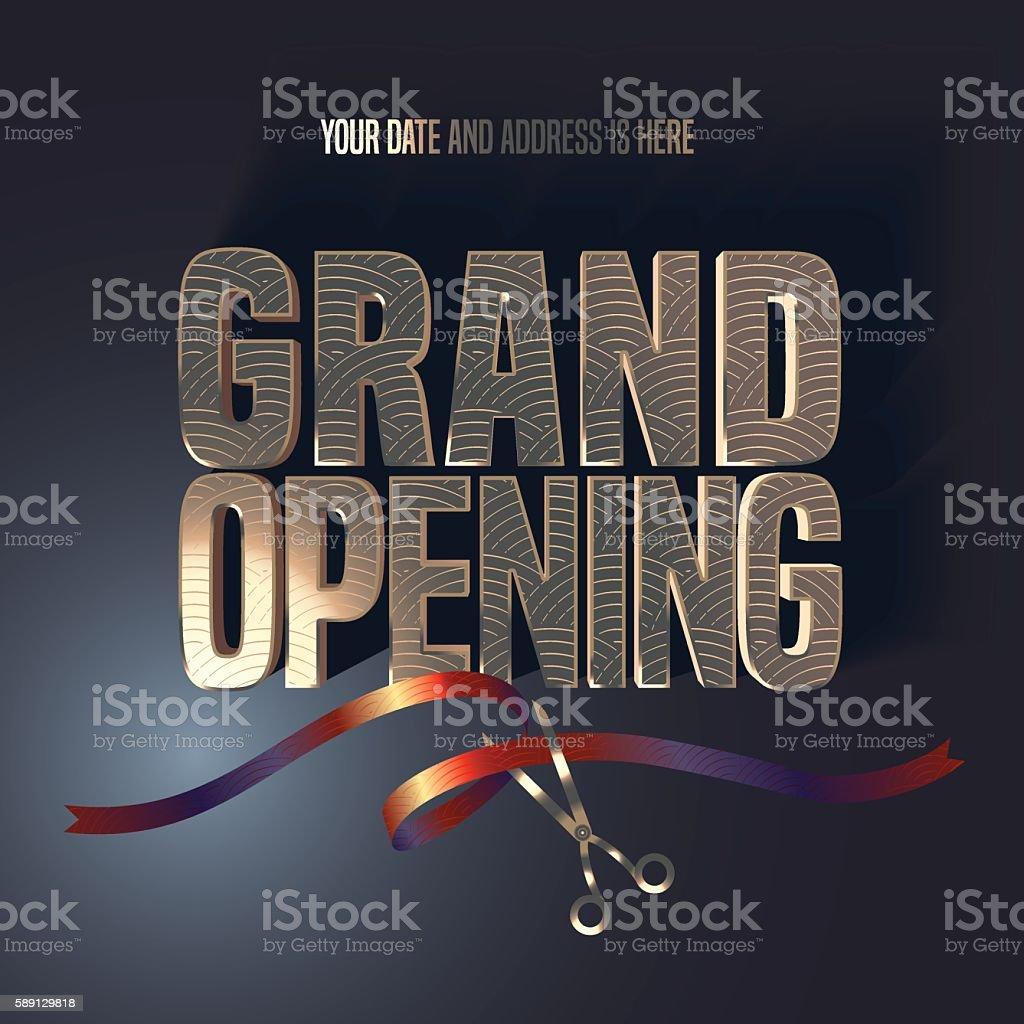Grand opening vector illustration, background, banner - Illustration vectorielle