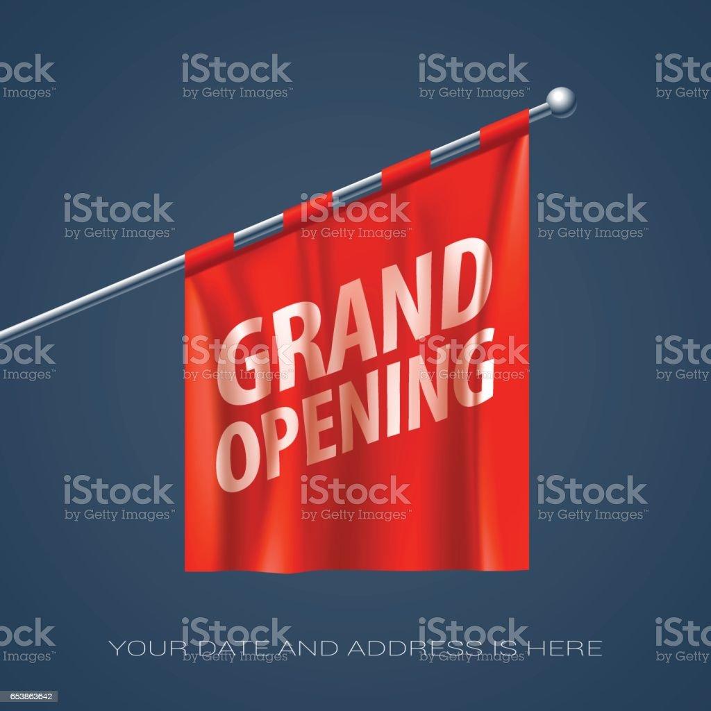 Grand opening vector illustration, background for new store vector art illustration