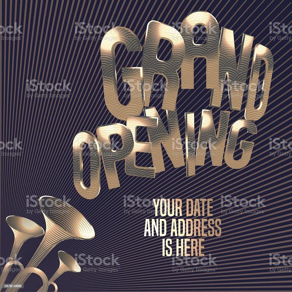 Grand opening vector illustration, banner, background vector art illustration