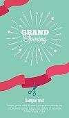 Grand opening vertical banner.