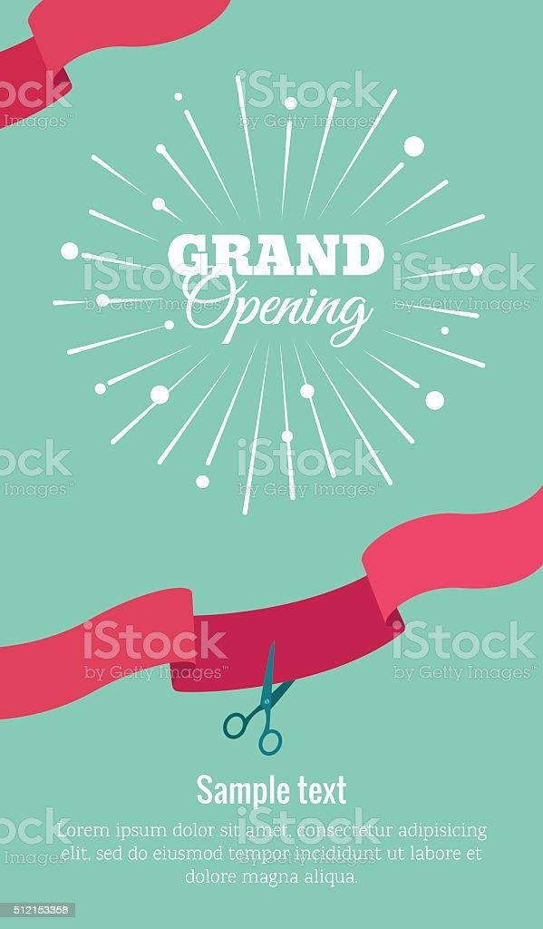 royalty free grand opening clip art vector images illustrations rh istockphoto com Grand Opening Event Flyer grand opening banner clip art