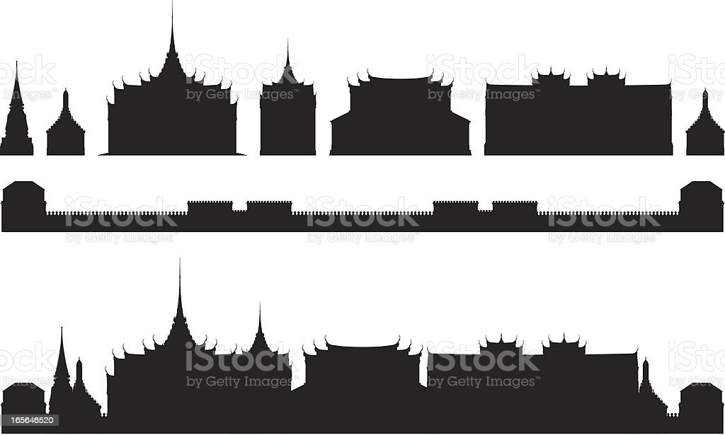 Grand Palace, Bangkok royalty-free stock vector art
