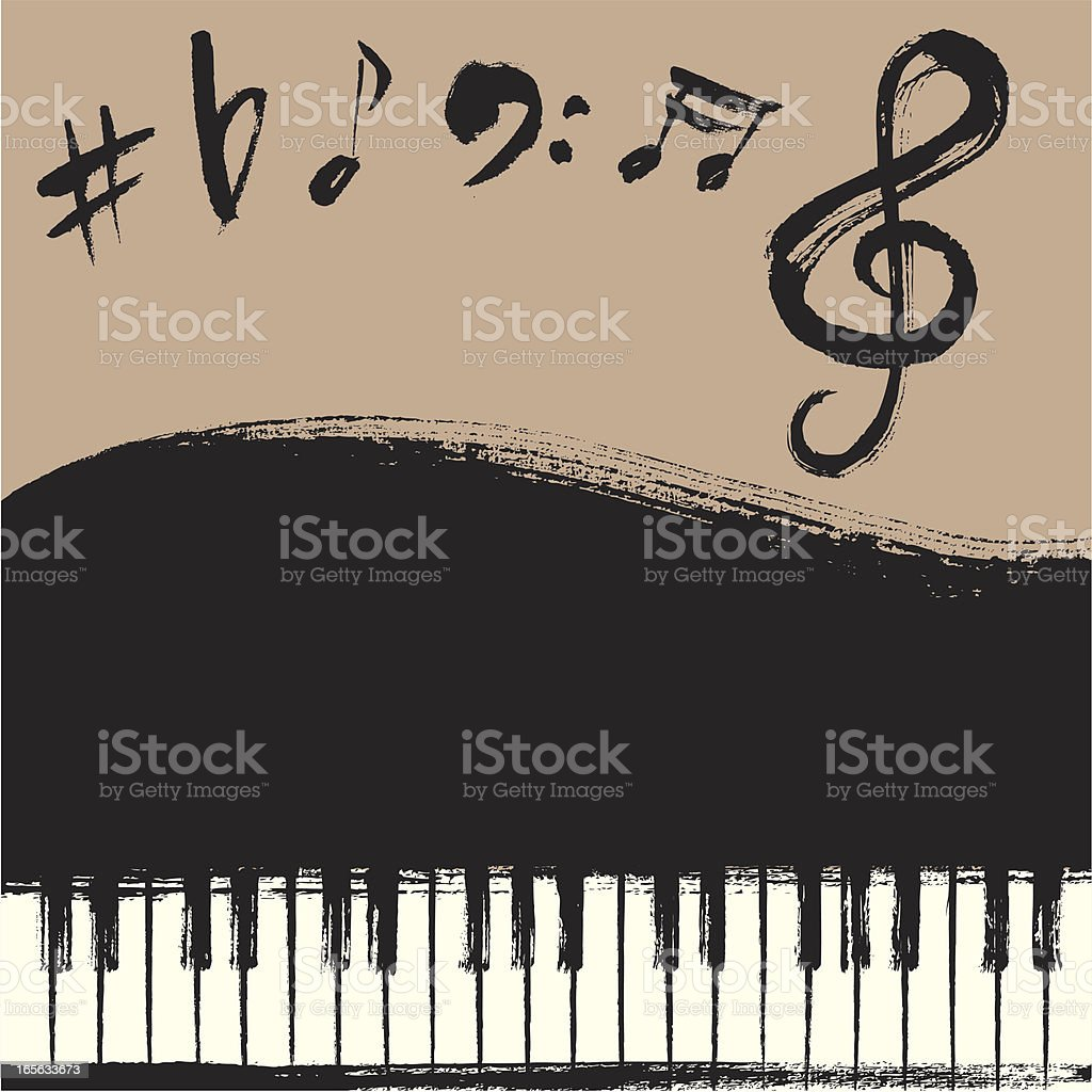 Grand Piano Background vector art illustration
