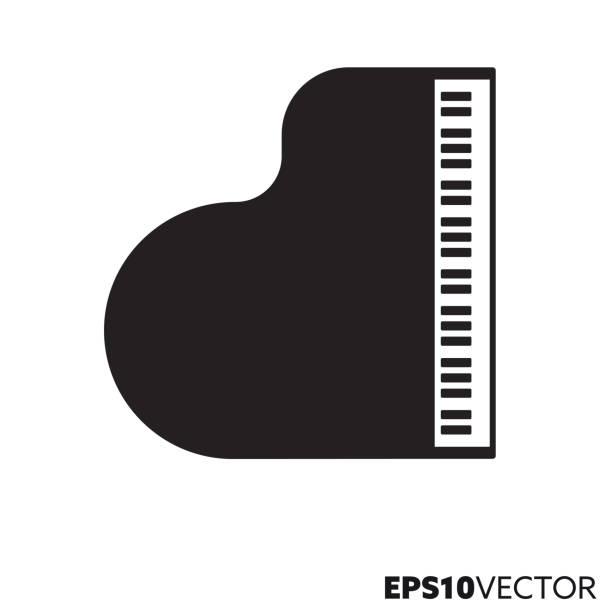 bildbanksillustrationer, clip art samt tecknat material och ikoner med grand piano vektor ikon - piano