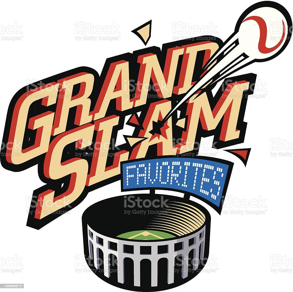 Grand Slam Heading C vector art illustration