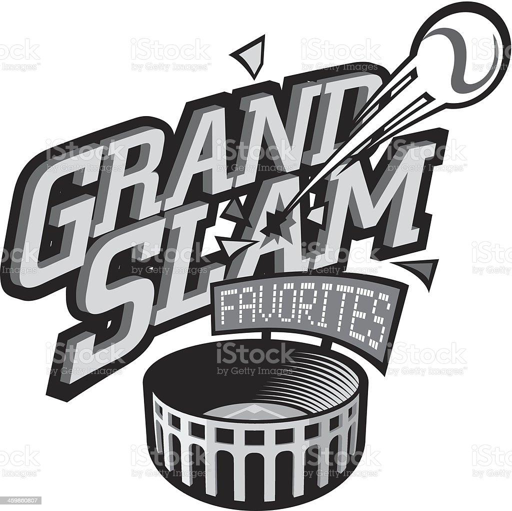 Grand Slam Heading vector art illustration