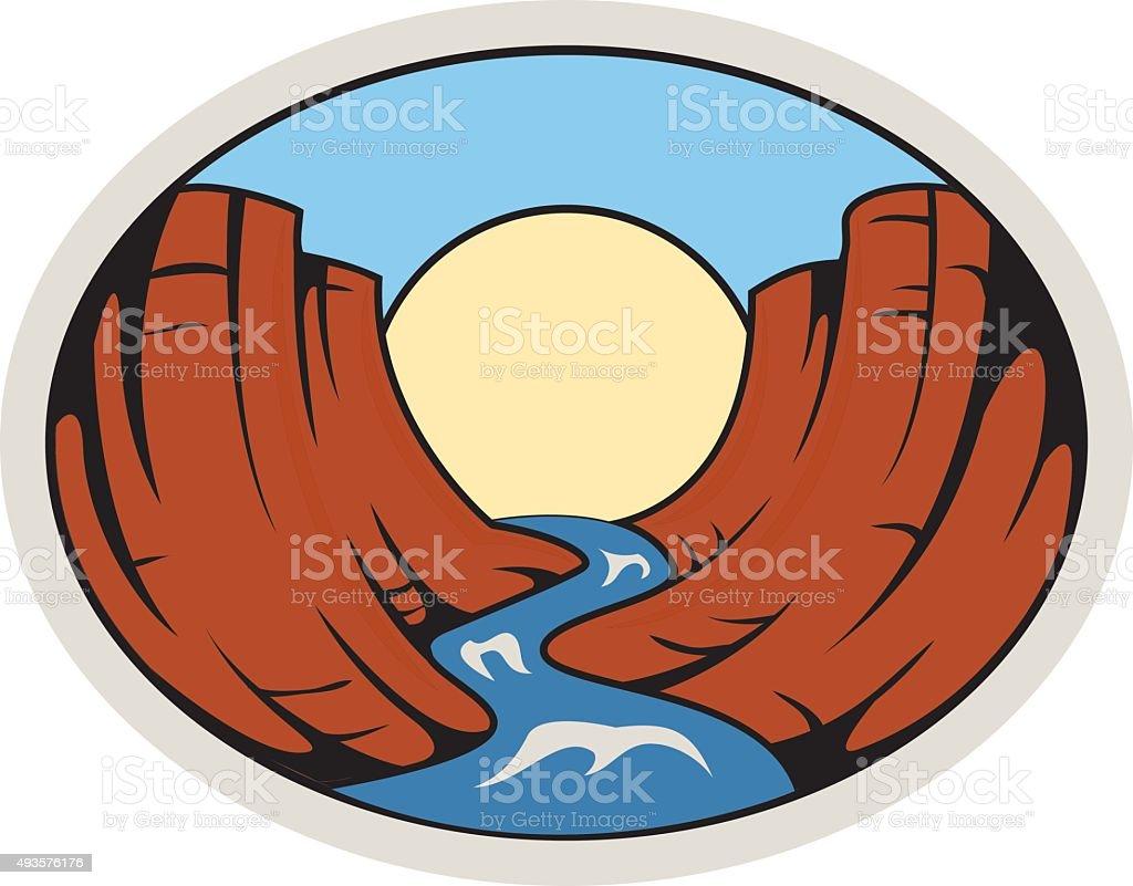 royalty free grand canyon of yellowstone river clip art vector rh istockphoto com grand canyon university clipart