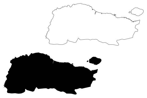 GrandAnse department (Republic of Haiti, Hayti, Hispaniola, Departments of Haiti) map vector illustration, scribble sketch Grand'Anse map GrandAnse department (Republic of Haiti, Hayti, Hispaniola, Departments of Haiti) map vector illustration, scribble sketch Grand'Anse map drawing of a haiti map stock illustrations