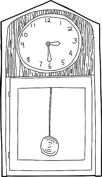 Best Drawing Of Grandfather Clock Illustrations, Royalty