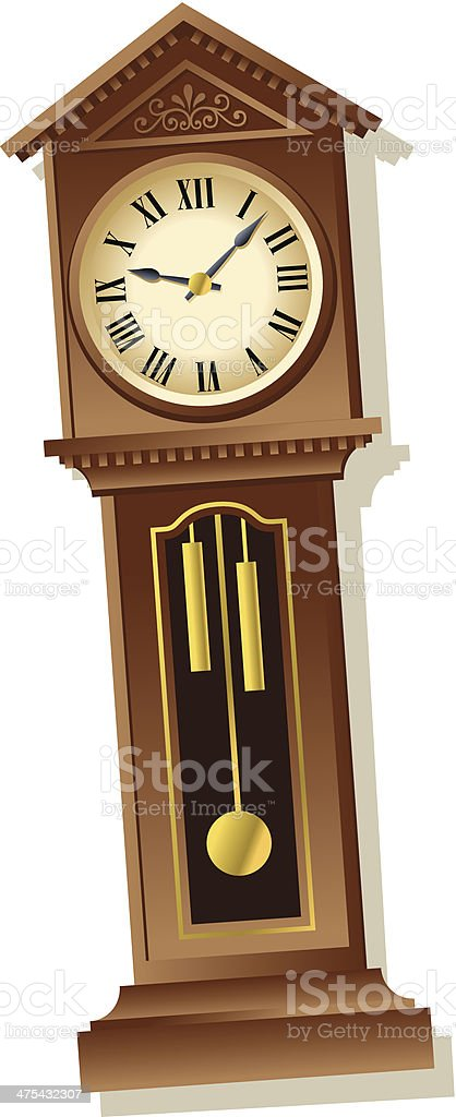 royalty free grandfather clock clip art vector images rh istockphoto com grandfather clock clipart black and white Time Clock Clip Art