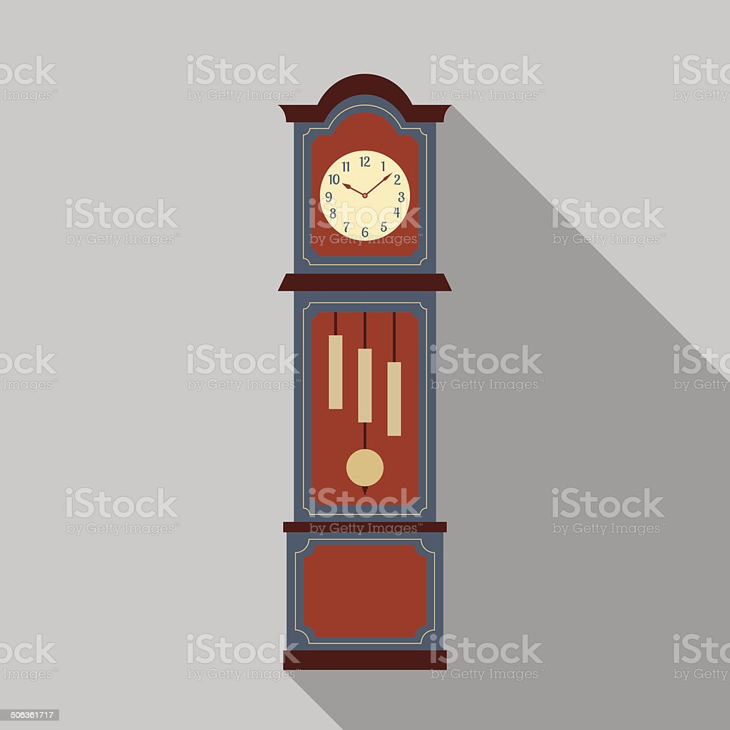 royalty free standing clock clip art vector images illustrations rh istockphoto com grandfather clock clip art public domain