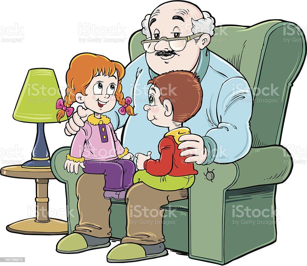 Grandfather vector art illustration
