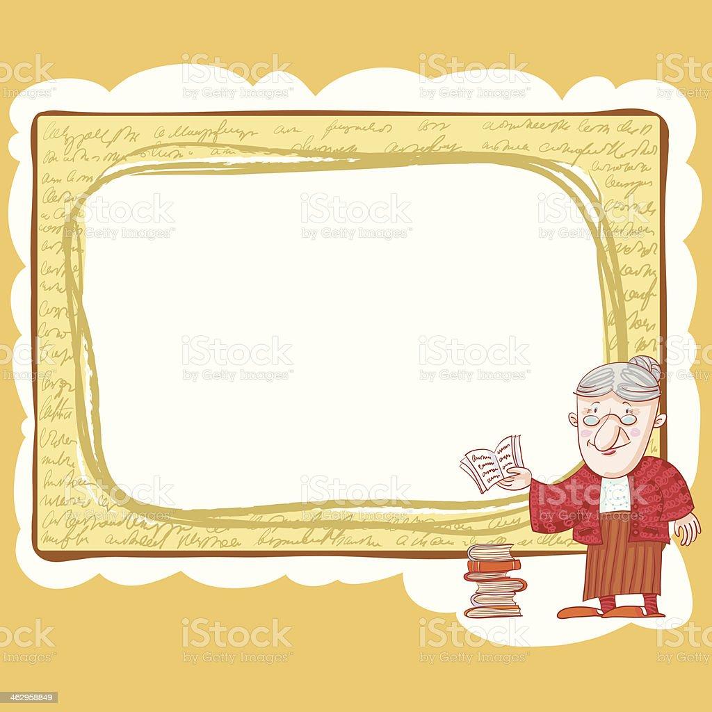 Oma Und Bücher Rahmen Stock Vektor Art und mehr Bilder von Alter ...