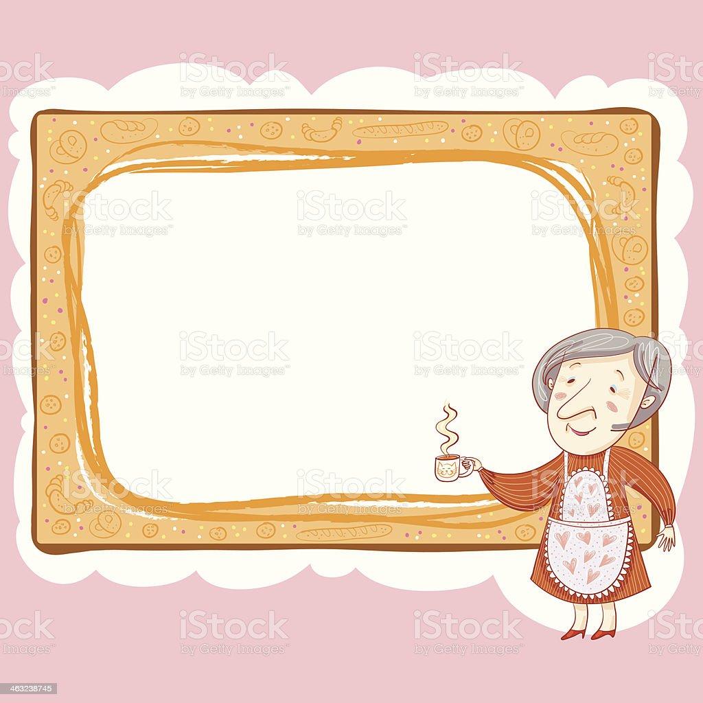 Oma Und Cup Rahmen Vektor Illustration 463238745 | iStock