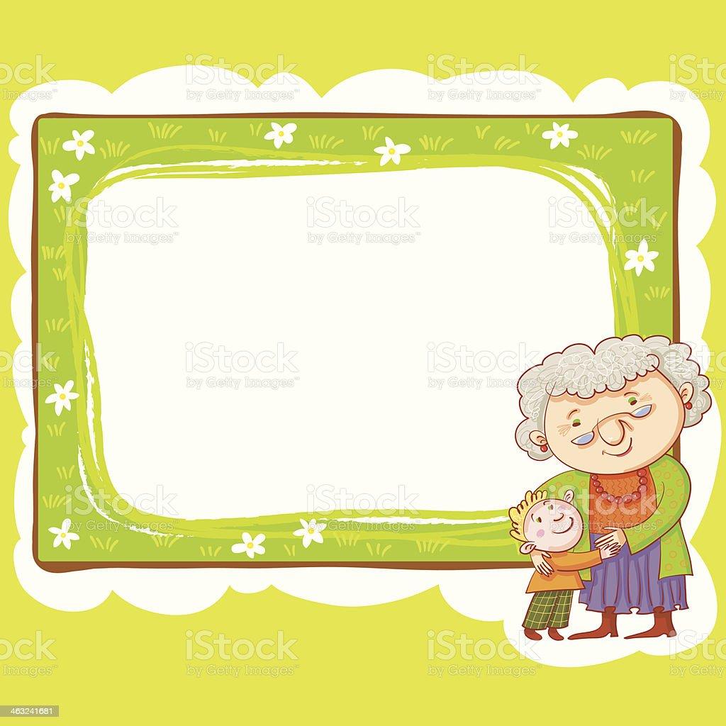 Oma Und Enkel Rahmen Stock Vektor Art und mehr Bilder von ...