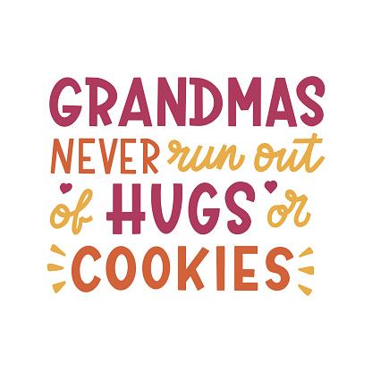 Grandma hand lettering