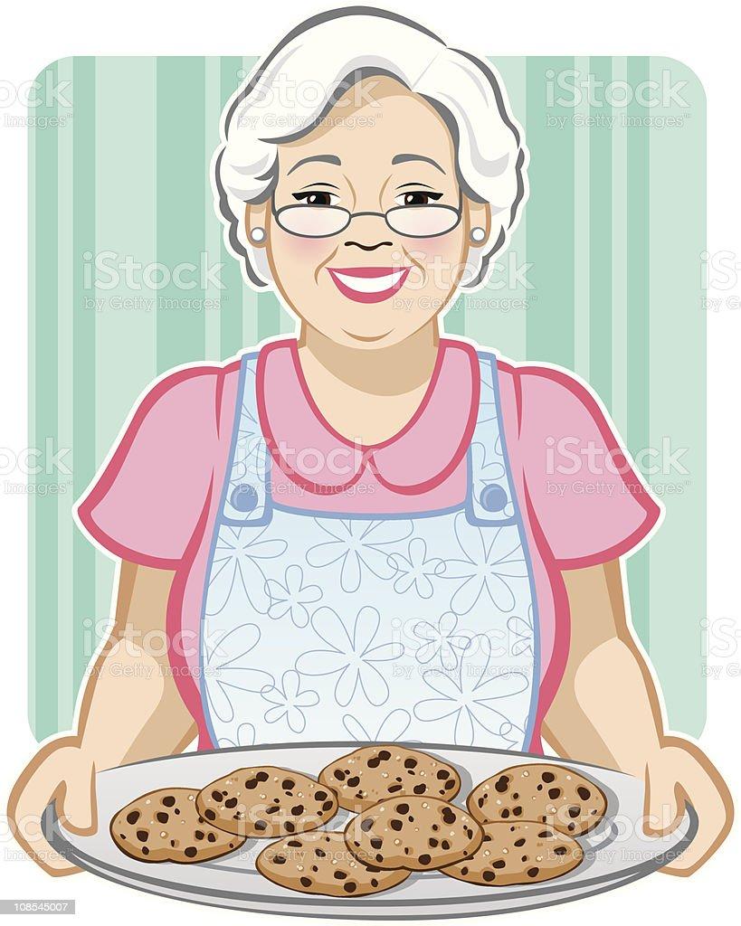 Grandma las Cookies - ilustración de arte vectorial