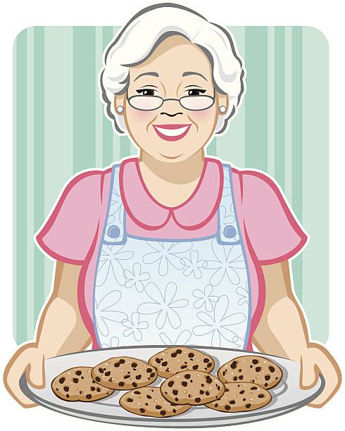 Grandma's Cookies vector art illustration