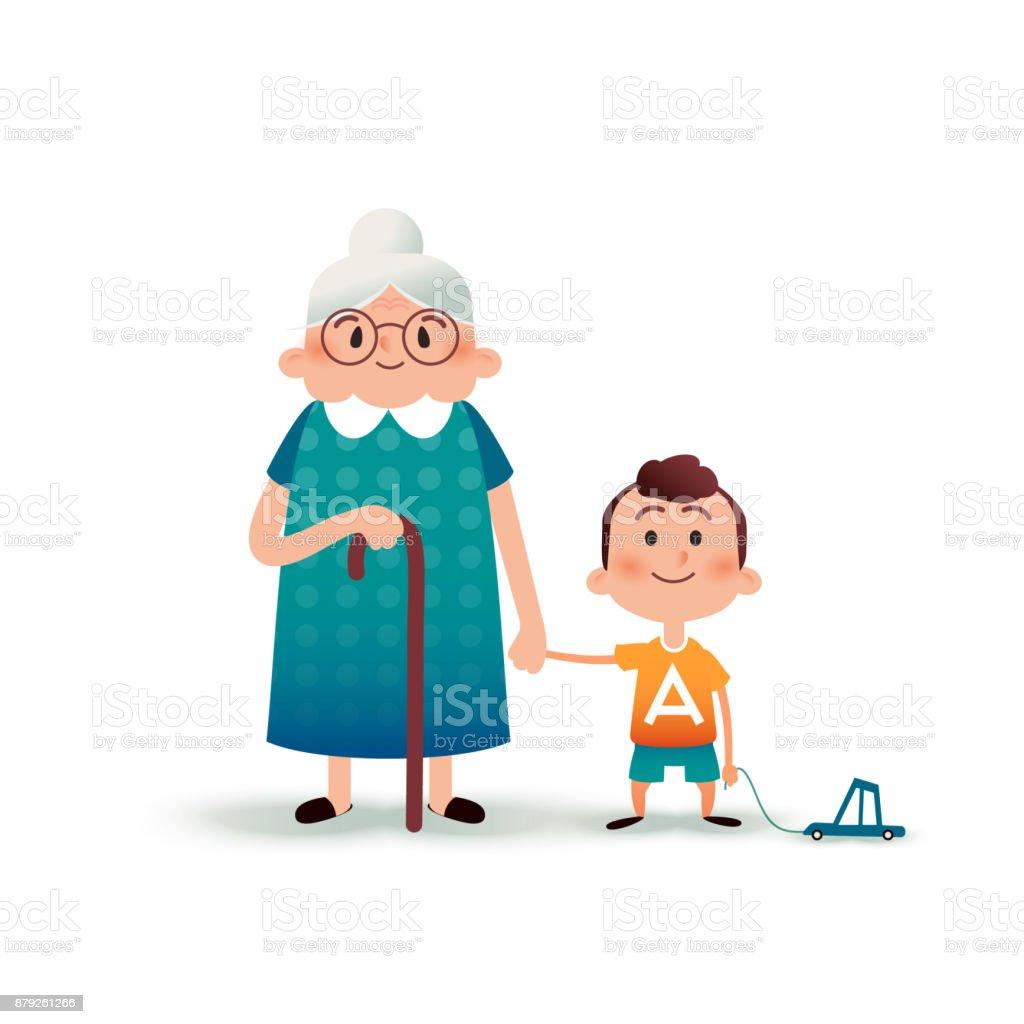 La Petitfils Tenant Garçon Grandmère Petit Main Avec Et Par Une TlJFK1c