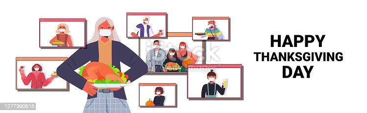 istock grandmother discussing with family during video call people celebrating happy thanksgiving day online communication 1277990515