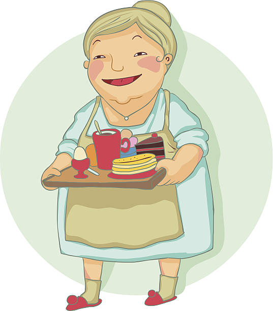 Best Grandma Cooking Illustrations, Royalty-Free Vector ...