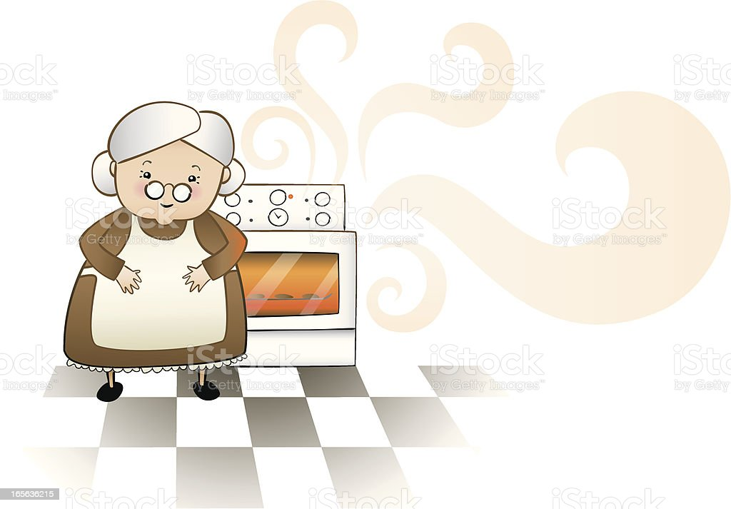 Grandmothers homebaked goodness vector art illustration