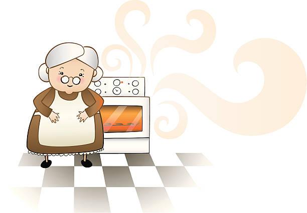 ilustrações de stock, clip art, desenhos animados e ícones de grandmothers homebaked qualidade - baking bread at home