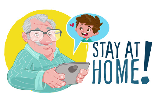 Grandpa at home (Stay at home)