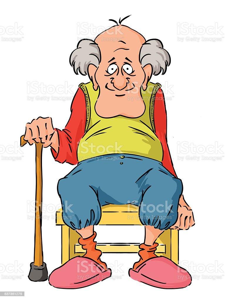 Grandpa vector art illustration