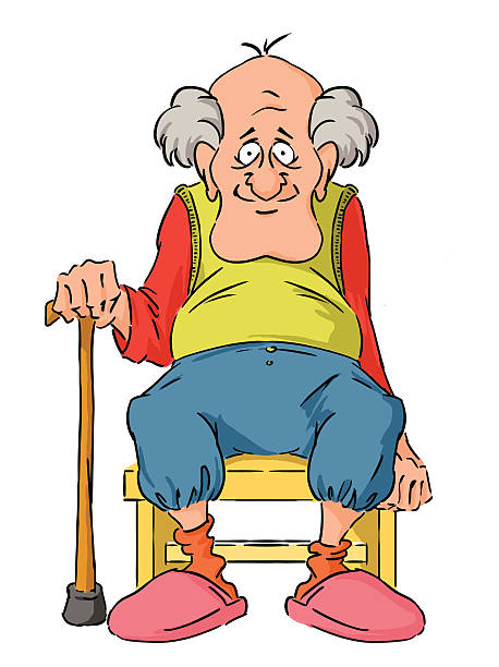 grandpa - old man funny pictures stock illustrations, clip art, cartoons, & icons