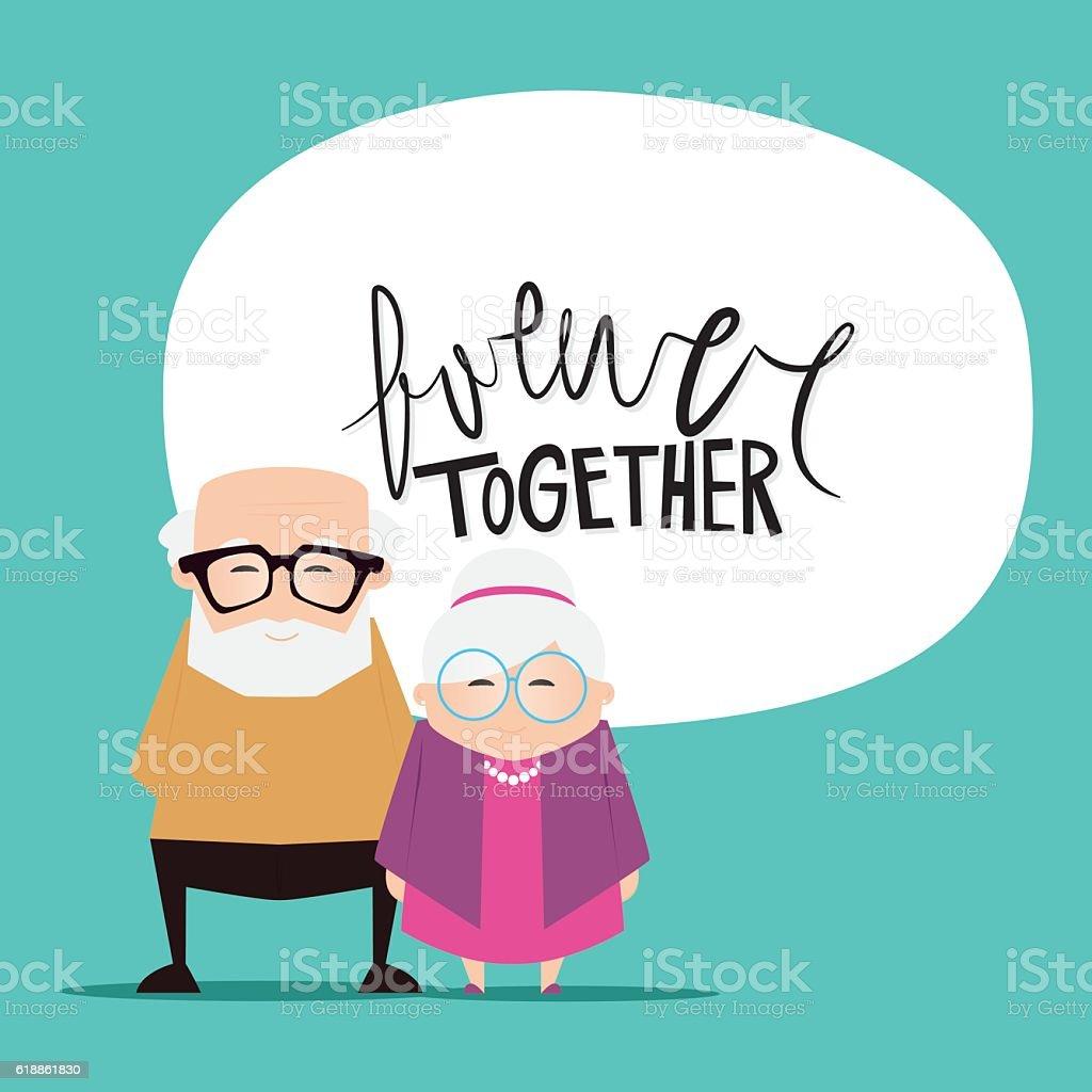 Abuelos día de fondo - ilustración de arte vectorial